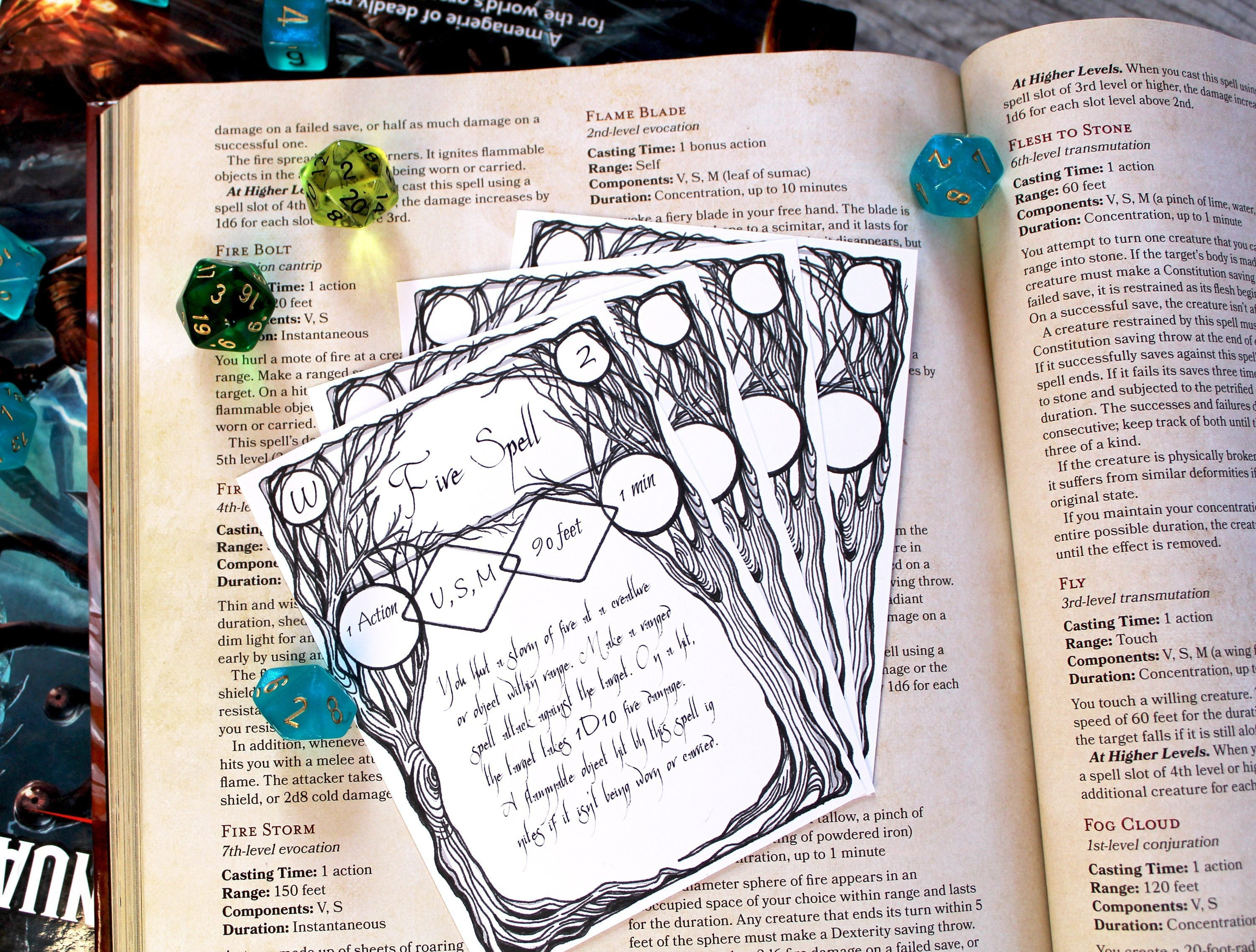 photo relating to Dnd 5e Printable Spell Cards called Tree Spell Card Printable and Fillable Template- Electronic Down load for Dnd, Pathfinder, RPG Video games or the day by day witch!