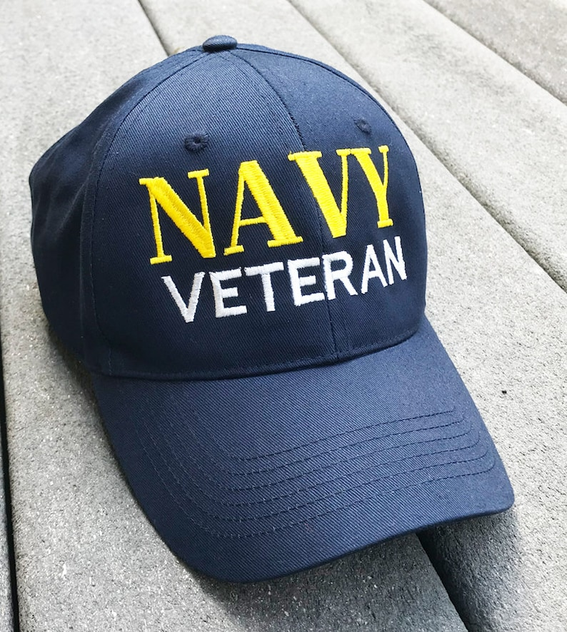 e0e27266 Navy Veteran Baseball Cap, Military Vet, Armed Forces, United States Navy,  Patriotic, Patriotism, USA, America, Gift Idea, Retired Soldier