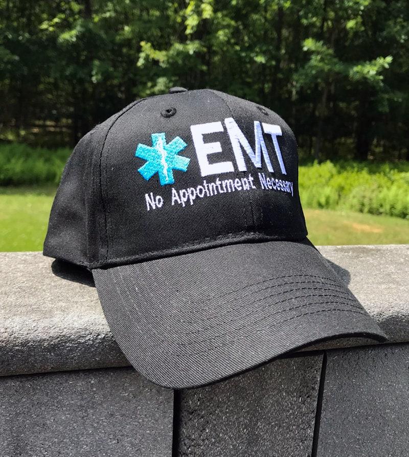 3dd55f21e65 EMS   EMT Embroidered Cap Star Of Life Emergency Medical