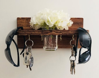 Key Holder for Wall, Key Rack for Wall, Sunglass Holder, Entryway Organizer, Key Hooks for Wall,  Sun Glass Holder, Home Mask Hanger