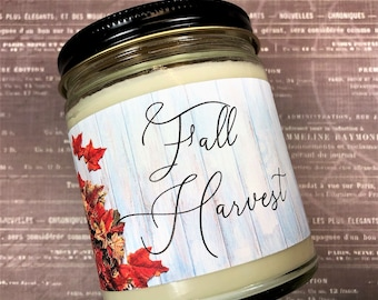 Fall Harvest Candle  | Pure Soy Wax Candle | Holiday Candle | Fall Candles | Autumn Candle | Thanksgiving Candle | Winter Candle