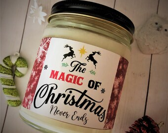 The Magic of Christmas Candle, Gift for Friend, Handpoured Soy Wax Scented Candle, Christmas Candle, Special Christmas Gift, Christmas Decor