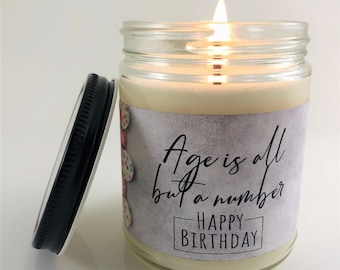 Personalized Birthday Gift Candle | Best Friend Birthday Gift | Birthday Gift For Her | Personalized Birthday Candle Gift| 8oz Soy Candle