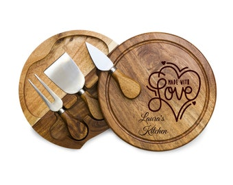Personalized Cheese Board Home Is Where Mom Is Mothers Day Gift Cheese Cutting Board Utensils Grandma Mothers Day Gift Gift For Stepmom