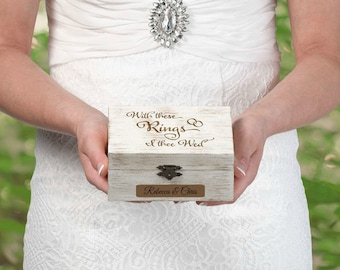 Ring bearer box etsy personalized ring bearer box junglespirit Image collections