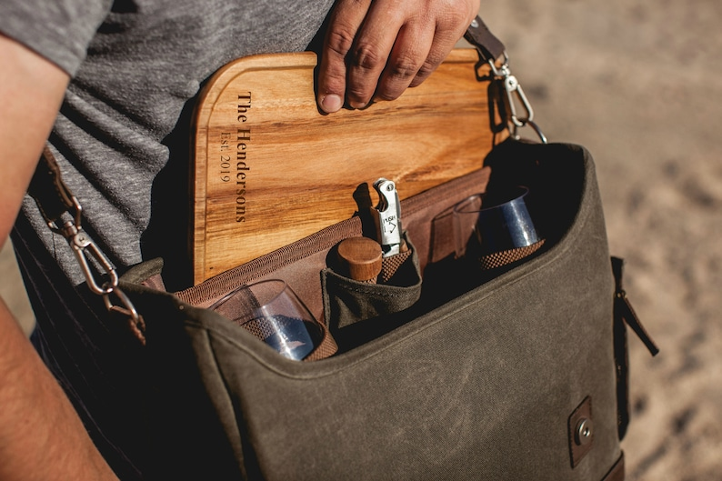Personalized Wine Cheese Portable Adventure Picnic Set image 0