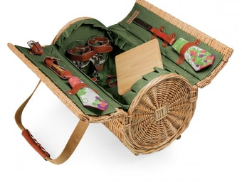 Personalized Picnic Basket Wine Cheese Portable Personalized Cheese Board Corkscrew Cheese Beach Basket Picnics Backpacking Wine Glasses