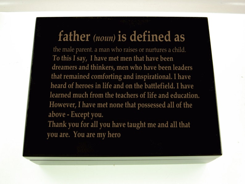 Definition Of A Father Keepsake Box Father Of The Bride Dad Of The Groom Wedding Gift For Groom Keepsake Box For Stepfather Coach Uncle Gift