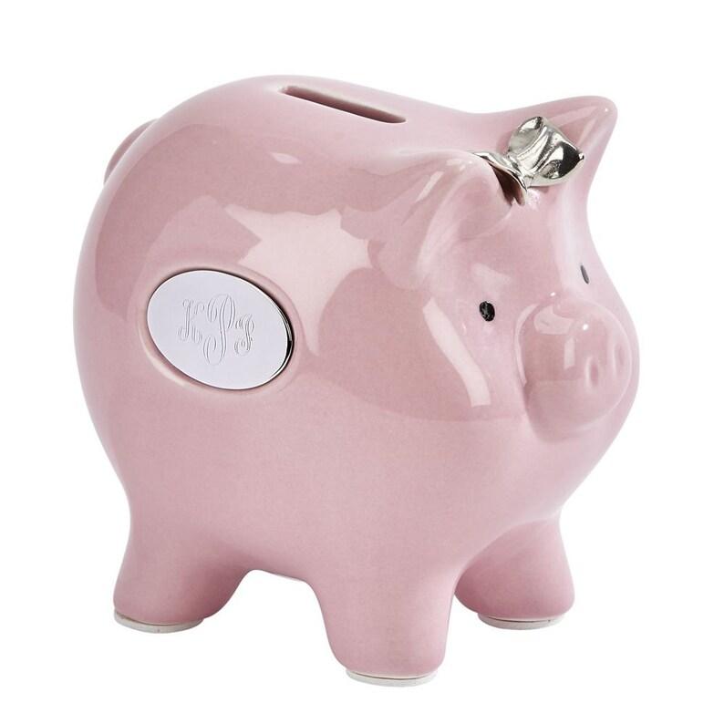 Engraved Piggy Bank Ceramic Piggy Bank New Baby Gift Etsy