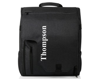 Monogrammed Picnic Travel Backpack Commuter Travel Cooler Insulated Bag Groomsmen Personalized Gift Hiking Travel Tote Bag