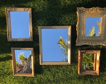 Estate Gold Tone Elegant Tall Picture Frame