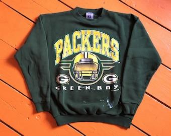 1d262df6 1995 Green Bay Packers Crewneck Sweatshirt - Medium - Distressed - Paint  Splatters - Vintage Clothing - 90s Clothing - NFL - Football -