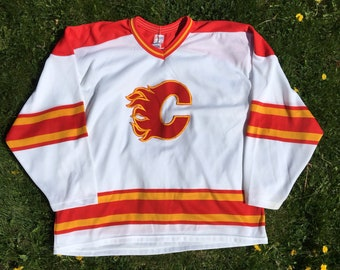 Vintage Calgary Flames Hockey Jersey - XL - CCM - Alberta - Cowtown - Sports  Jersey - NHL - Old School - Canadian - Vintage Clothing - Fan - 8150696f0