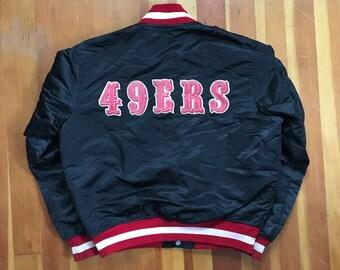 80s San Francisco 49ers Satin Starter Jacket - Medium - Made in USA - SF -  Vintage Clothing - Starter - VTG - Forty Niners - Satin - f7529d0b7