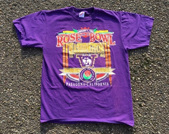 1993 Washington Huskies T Shirt - Medium - Vintage Tee - Vintage Clothing -  Clothes - Streetwear - Fashion - Rose Bowl - Jerzees - Football 8122bd9aa
