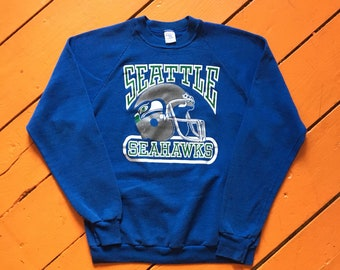 75414590f0e 80s Seattle Seahawks Crewneck Sweatshirt - Medium Mens - Vintage Clothing - 80s  Clothing - NFL - Football - Washington State - Jerzees -