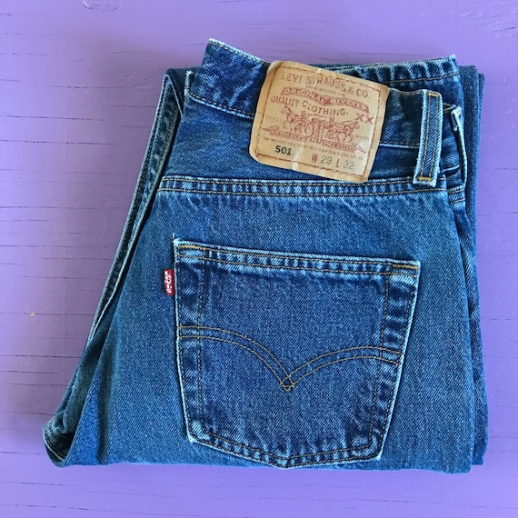 Vintage 90s Levis 501 For Women 28 x 32 - Made in… - image 4