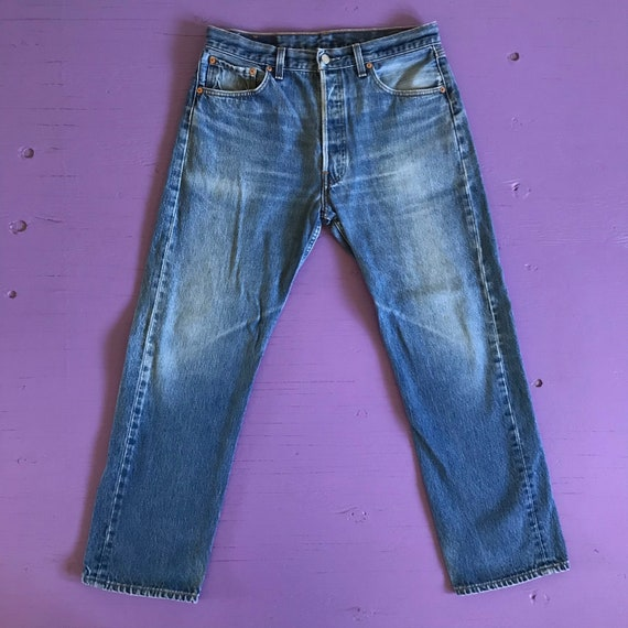 90s Levis 501 33 x 30 - Made in USA Levis Vintage… - image 2