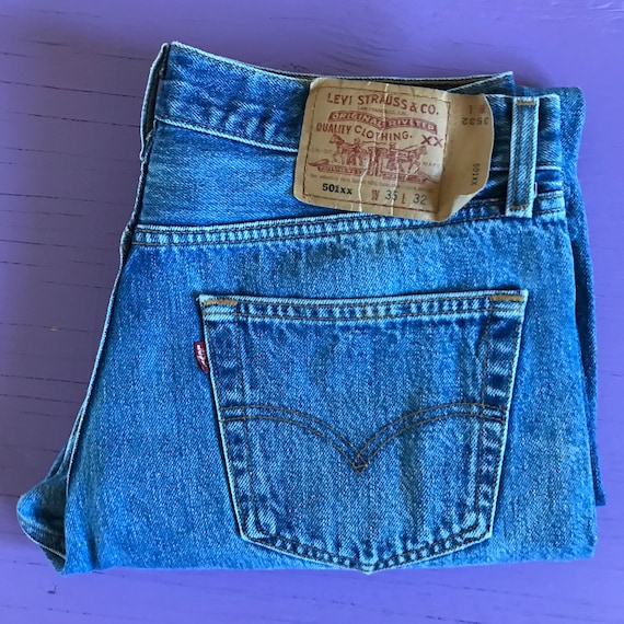 90s Levis 501 33 x 30 - Made in USA Levis Vintage… - image 4