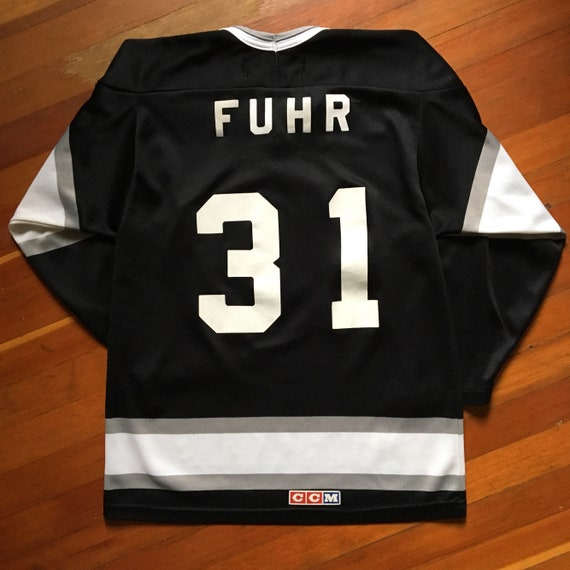 Vintage 90s LA Kings Grant Fuhr Jersey Small Hockey Jersey  33a940251