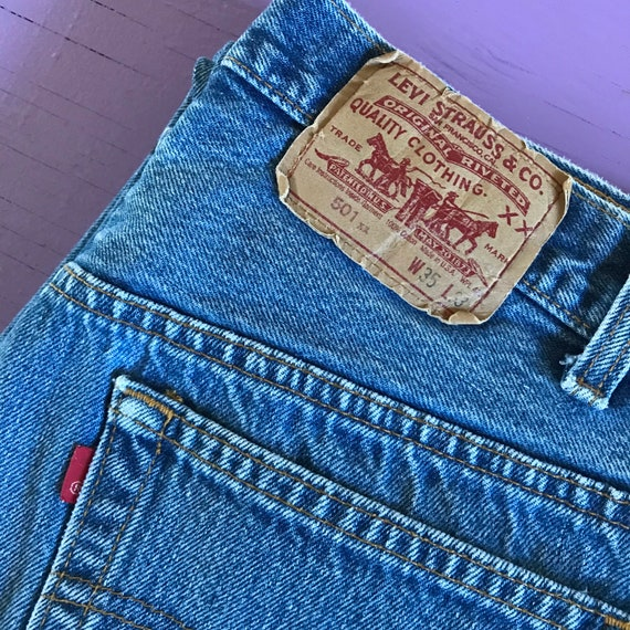 Levis 501 32 x 30 - Made in USA Levis Vintage Clo… - image 9