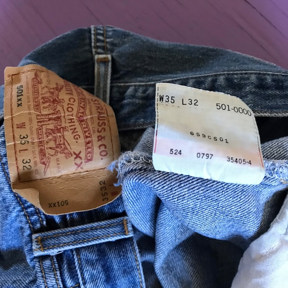 90s Levis 501 33 x 30 - Made in USA Levis Vintage… - image 7