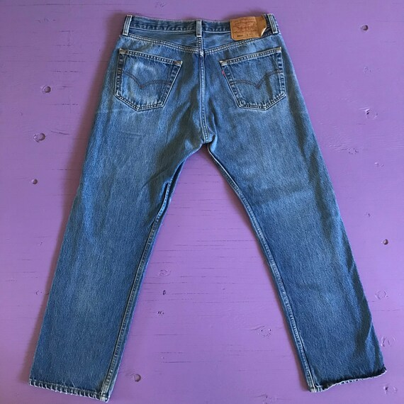 90s Levis 501 33 x 30 - Made in USA Levis Vintage… - image 3
