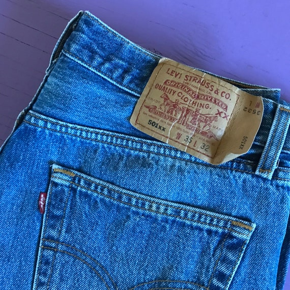 90s Levis 501 33 x 30 - Made in USA Levis Vintage… - image 10