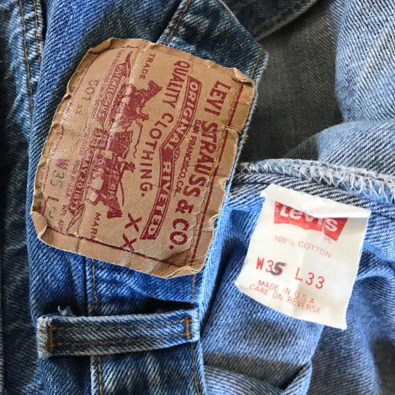 Levis 501 32 x 30 - Made in USA Levis Vintage Clo… - image 4