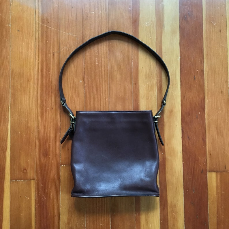 431db69f6ba8a Vintage Coach Handbag Dark Brown Authentic Coach Bag | Etsy