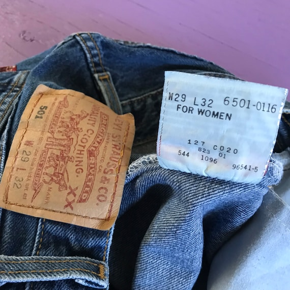 Vintage 90s Levis 501 For Women 28 x 32 - Made in… - image 6