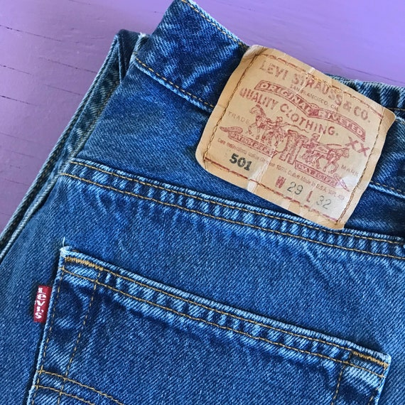 Vintage 90s Levis 501 For Women 28 x 32 - Made in… - image 7