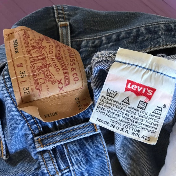 90s Levis 501 33 x 30 - Made in USA Levis Vintage… - image 6