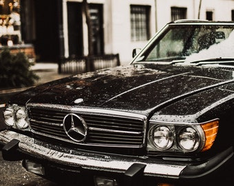 Calvin // Mercedes // New York City // Car Photography // Mounted Photo Print