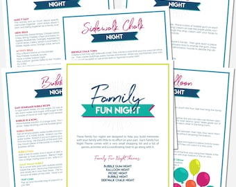 EASY Family Activity Nights Printable Download