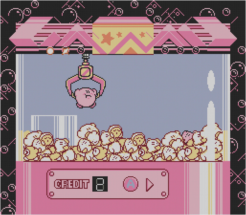 Kirby s Adventure UFO Catcher Claw Machine Crane Game