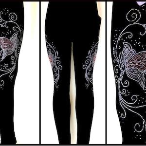 Diamante Leggings Personalised Rhinestone Leggings Personalised Leggings Rhinestone Diamante Gift Crystal Embellished Leggings