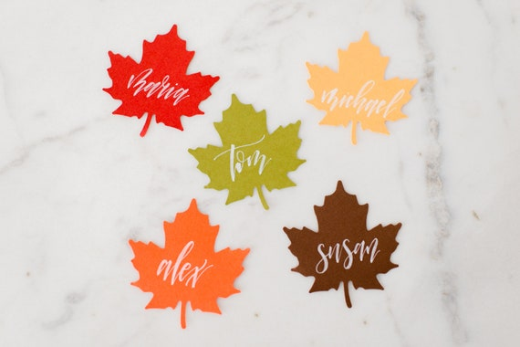 Falling Leaves Place Cards