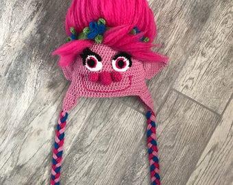 Trolls Poppy Hat, Trolls, Halloween, Christmas gift