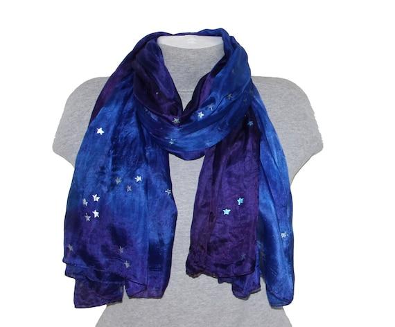 Colorful Galaxy Space Moon Star Printing Scarf Warm Soft Fashion Scarf Shawl Kids Boys Girls