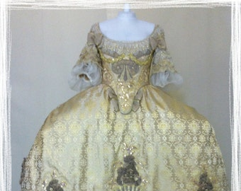 "1700 costume ""mantua"" / marie antoniette/ barocco"