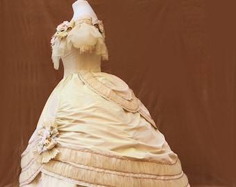 1860s ballgown victorian dress