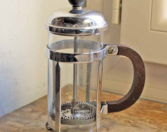 Vintage  french cafetiere Pyrex small coffee maker Coffee Percolator / Old French Press coffee brewer  Chambord 3/ Old Pyrex coffee maker