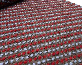 Sustancia musterwalk WALKLODEN relief estrellas petrol rosa gris abrigo de tela