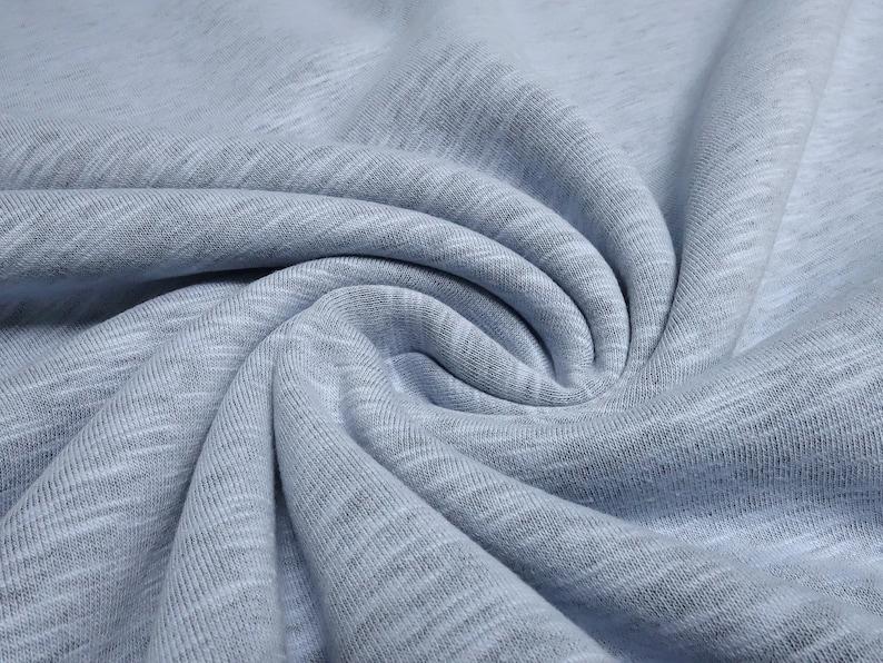 Fabric sweatshirt fabric with soft inside uni blue light blue baby blue melange dress fabric children/'s fabric