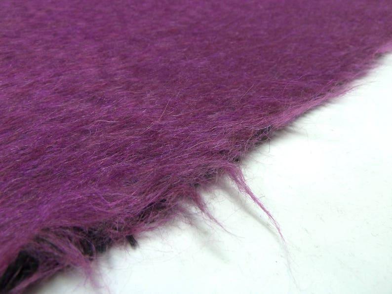 Fabric noble Ital Alpaca flush felon limit Fur imitat Fake Fur fuchsia purple melange mantle fabric jacket fabric