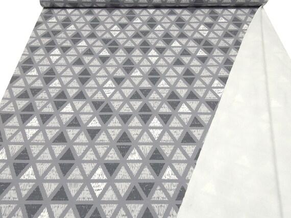 Stoff Sweatshirtstoff weiche Innenseite grafische Muster braun grau weiß schwarz