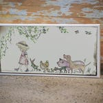 Bobbie Girl & Co. | 1:2 Rectangle | Illustration | Canvas Art | Farmyard Friends | Decorate | Children | Kids | Adult | by Little Me and My