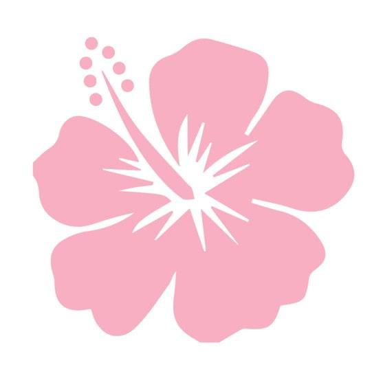 Hawaiian Hibiscus Flower Car Decal Pink Island Girl Beach Car Bumper Sticker