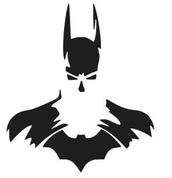 Batman Silhouette Logo Vinyl Decal Sticker Car Window Laptop Etsy